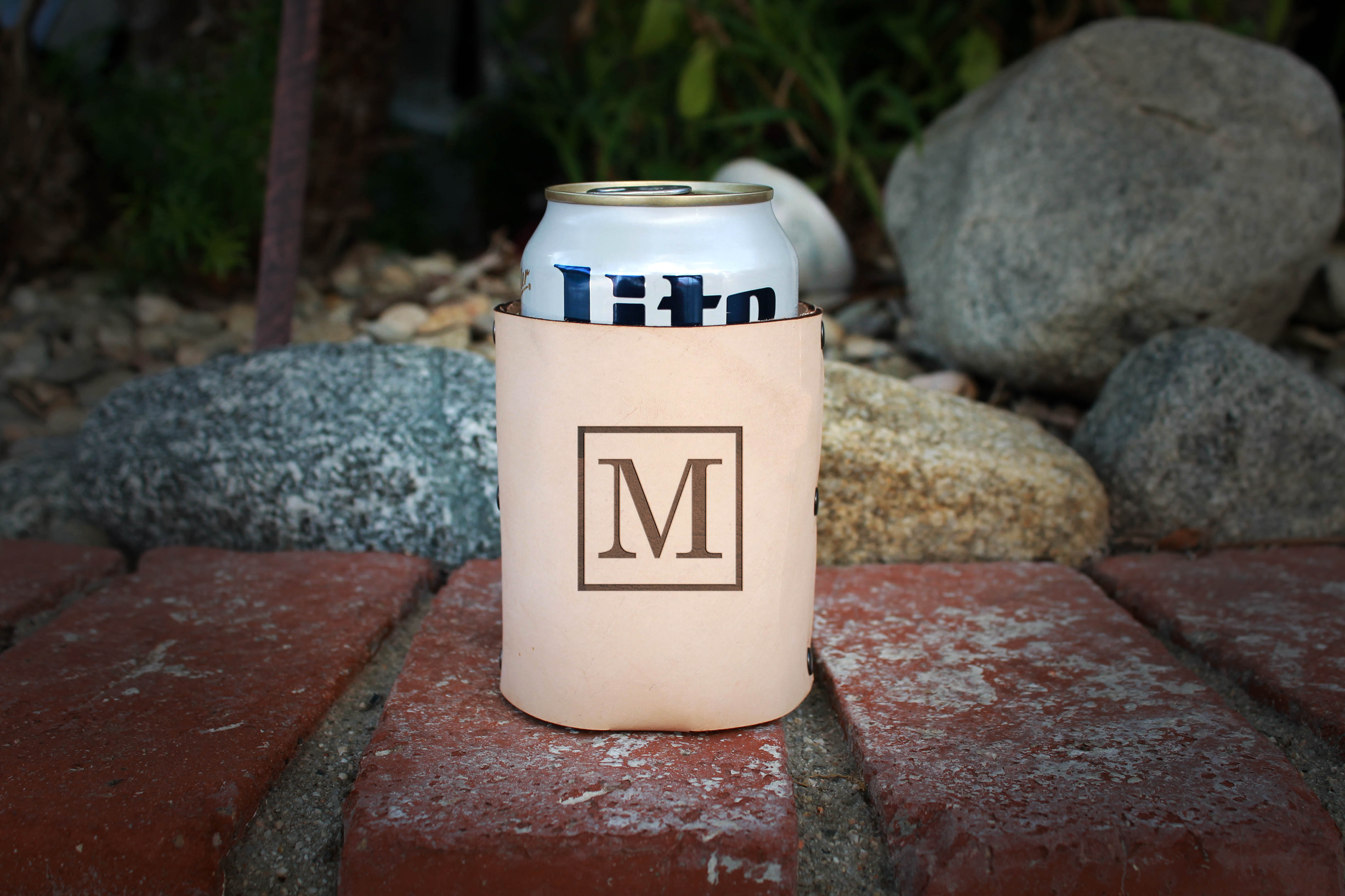Genuine Leather Koozie | M Square