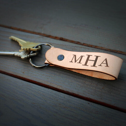 Genuine Leather Loop Keychain | MHA