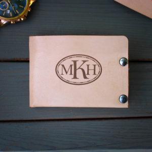 Genuine Leather Bi-fold Wallet | MKH