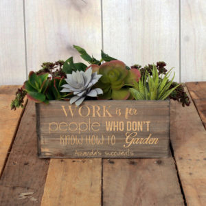 Personalized Planter Box 10 x 4 | Amanda