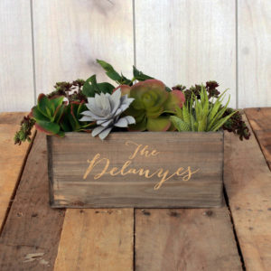 Personalized Planter Box 10 x 4 | Delanyes