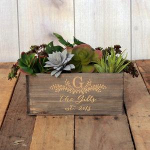 Personalized Planter Box 10 x 4 | Gills