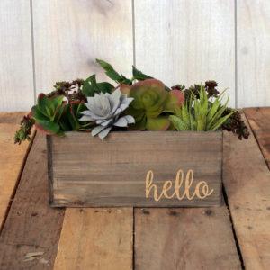 Personalized Planter Box 10 x 4 | Hello