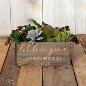 Personalized Planter Box 10 x 4 | LetLoveGrow