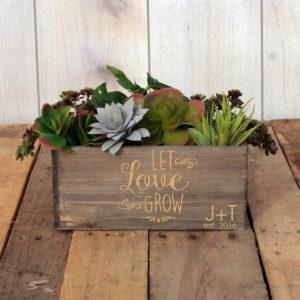 Personalized Planter Box 10 x 4 | LetLoveGrowJT