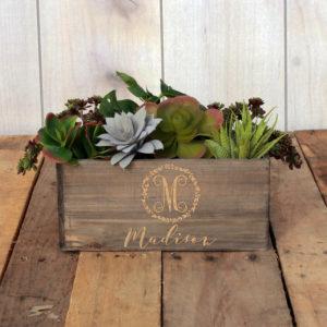 Personalized Planter Box 10 x 4 | Madison