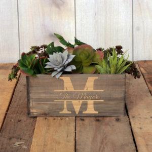 Personalized Planter Box 10 x 4 | Mayors