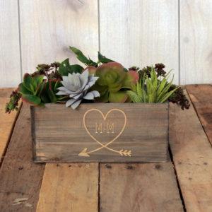 Personalized Planter Box 10 x 4 | M+MHeart