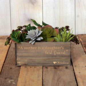 Personalized Planter Box 10 x 4 | Mother