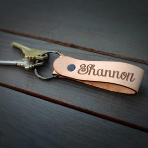 Genuine Leather Loop Keychain | Shannon
