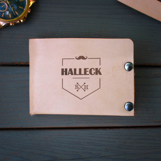 Genuine Leather Bi-fold Wallet | Halleck