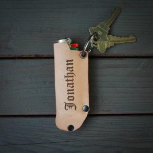 Genuine Leather Lighter Holder | Jonathan