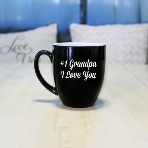 Personalized Bistro Coffee Mug | #1 Grandpa