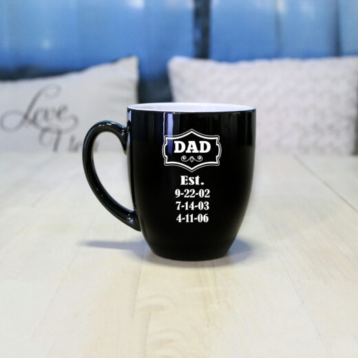 Personalized Bistro Coffee Mug | Dad EST