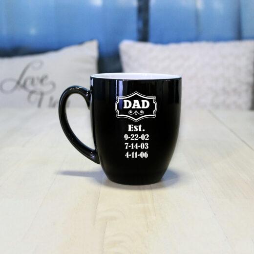 Personalized Bistro Coffee Mug | Dad EST