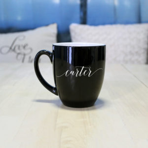 Personalized Bistro Coffee Mug | Carter