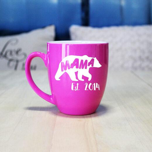 Personalized Bistro Coffee Mug | Mama Bear