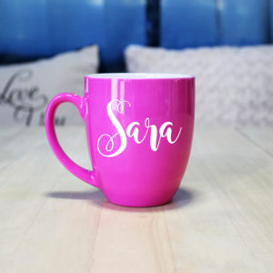 Personalized Bistro Coffee Mug | Sara
