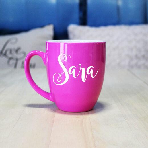 Personalized Bistro Coffee Mug | Sara