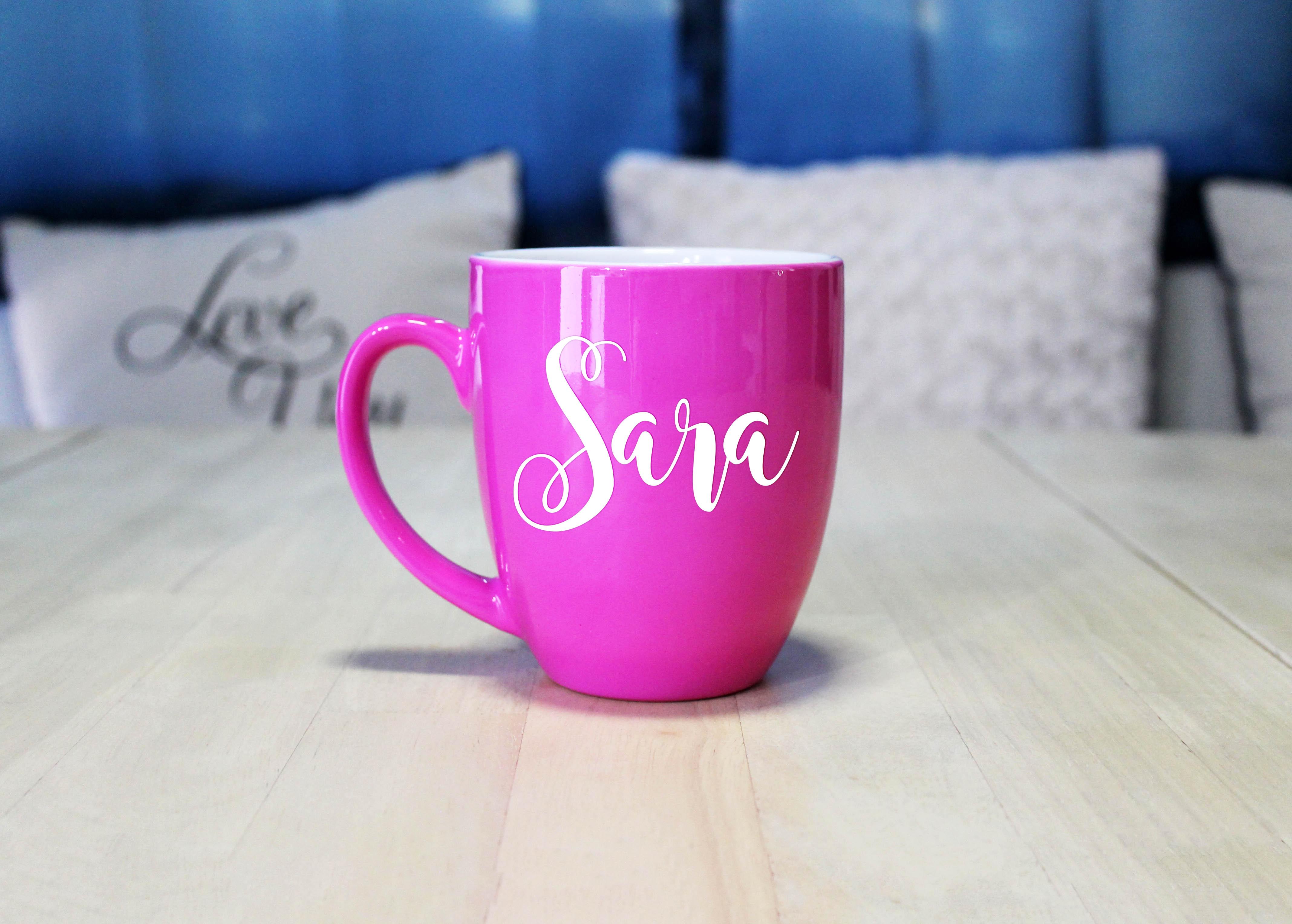 Personalized Bistro Coffee Mug   Sara - Etchey