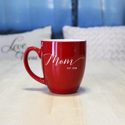 Personalized Bistro Coffee Mug | Mom Script