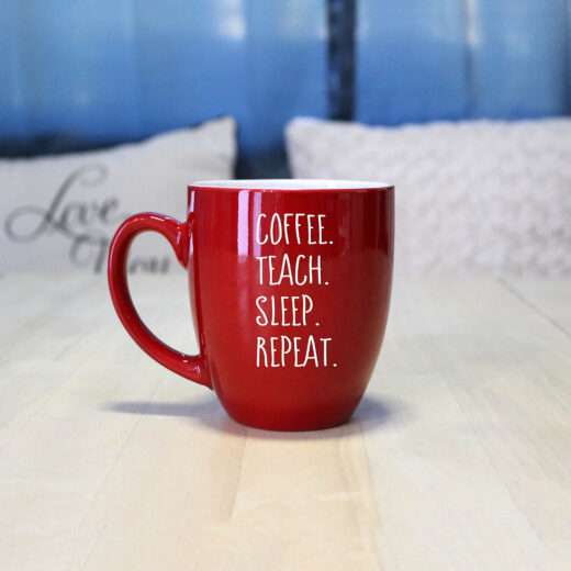 Personalized Bistro Coffee Mug | Teach Repeat