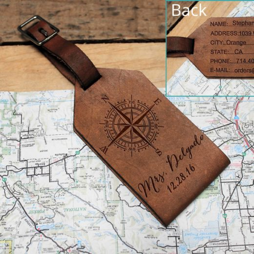 Personalized Leather Luggage Tag | Delgado