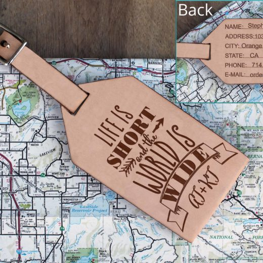 Personalized Leather Luggage Tag | AT+KT