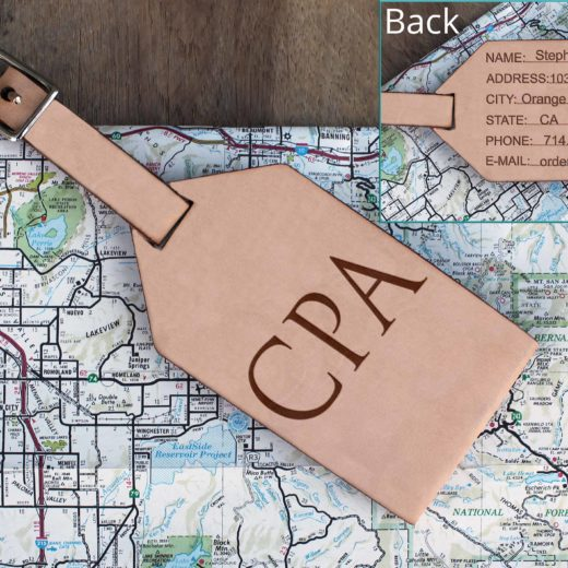 Personalized Leather Luggage Tag | CPA