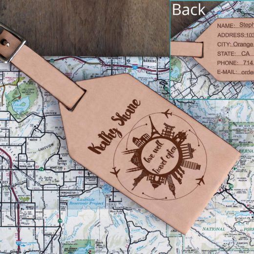 Personalized Leather Luggage Tag | Kathy Shane