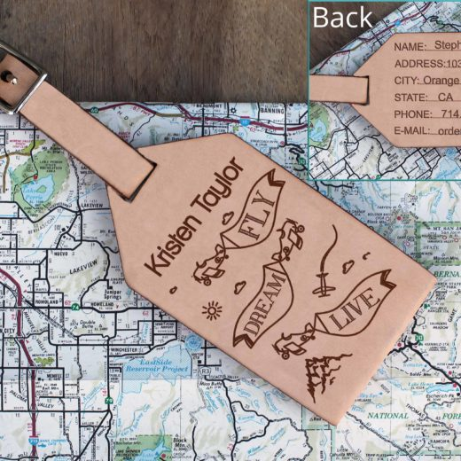 Personalized Leather Luggage Tag | Kristen Taylor