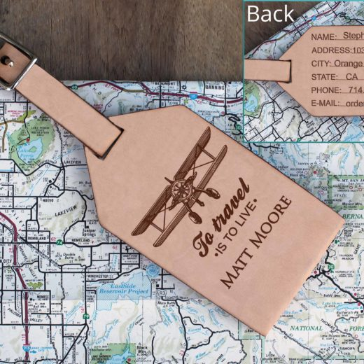 Personalized Leather Luggage Tag | Matt Moore