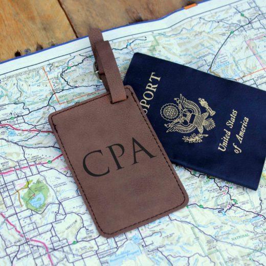 Vegan Leather Luggage Tag | CPA