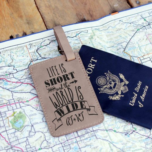 Vegan Leather Luggage Tag | AT+KT