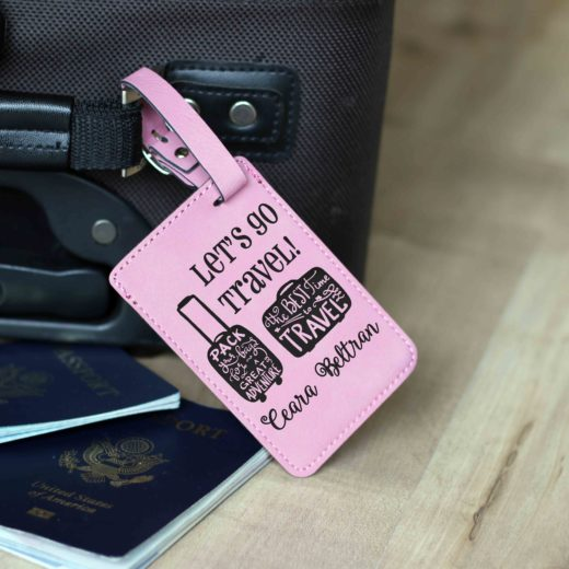 Vegan Leather Luggage Tag | Ceara Beltran