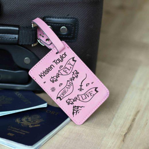 Vegan Leather Luggage Tag | Kristen Taylor