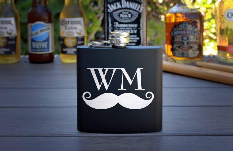 Personalized Flask | Mustache