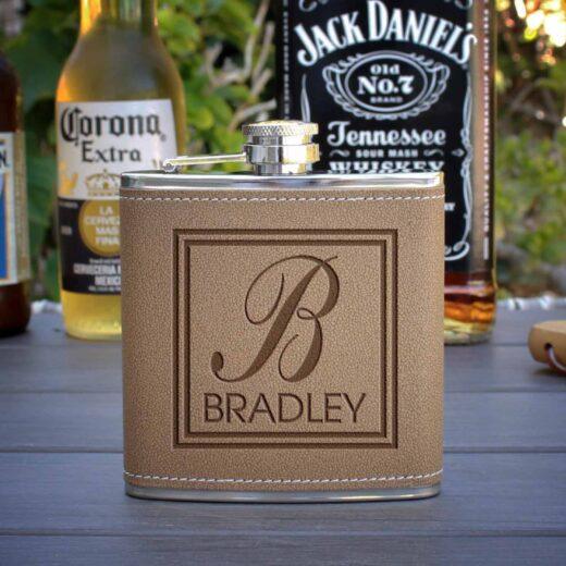 Personalized Flask | Bradley