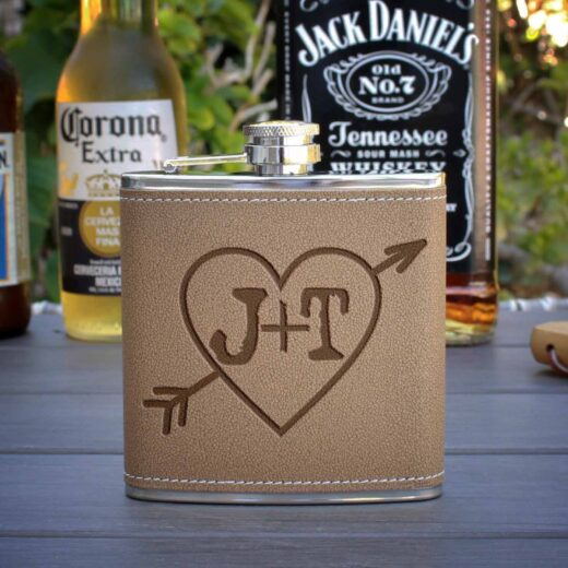 Personalized Flask | Heart Initial