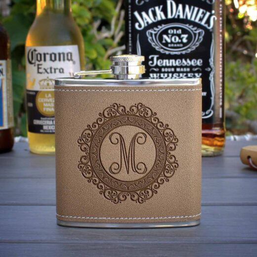 Personalized Flask | M Lace