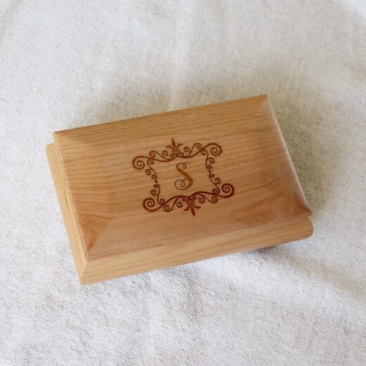 Personalized Jewelry Box | S Monogram