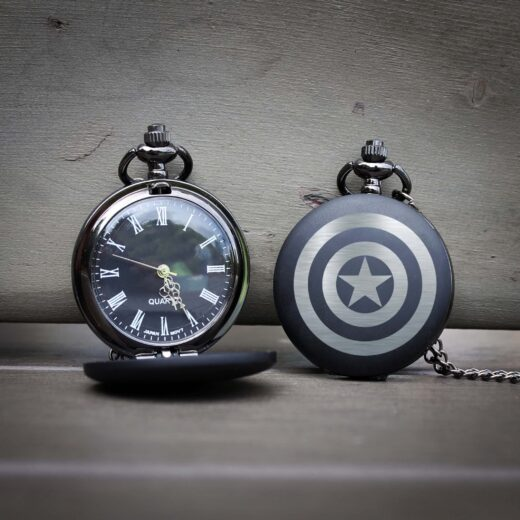 Customized Engraved Pocket Watch | Captain America