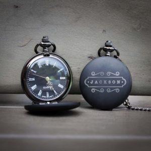 Customized Engraved Pocket Watch | Jackson