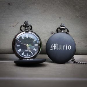 Customized Engraved Pocket Watch | Mario