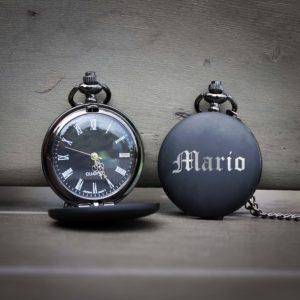 Customized Engraved Pocket Watch | Mario