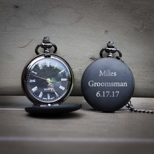 Customized Engraved Pocket Watch | Miles