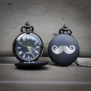 Customized Engraved Pocket Watch | Mustache
