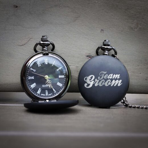 Customized Engraved Pocket Watch | Team Groom