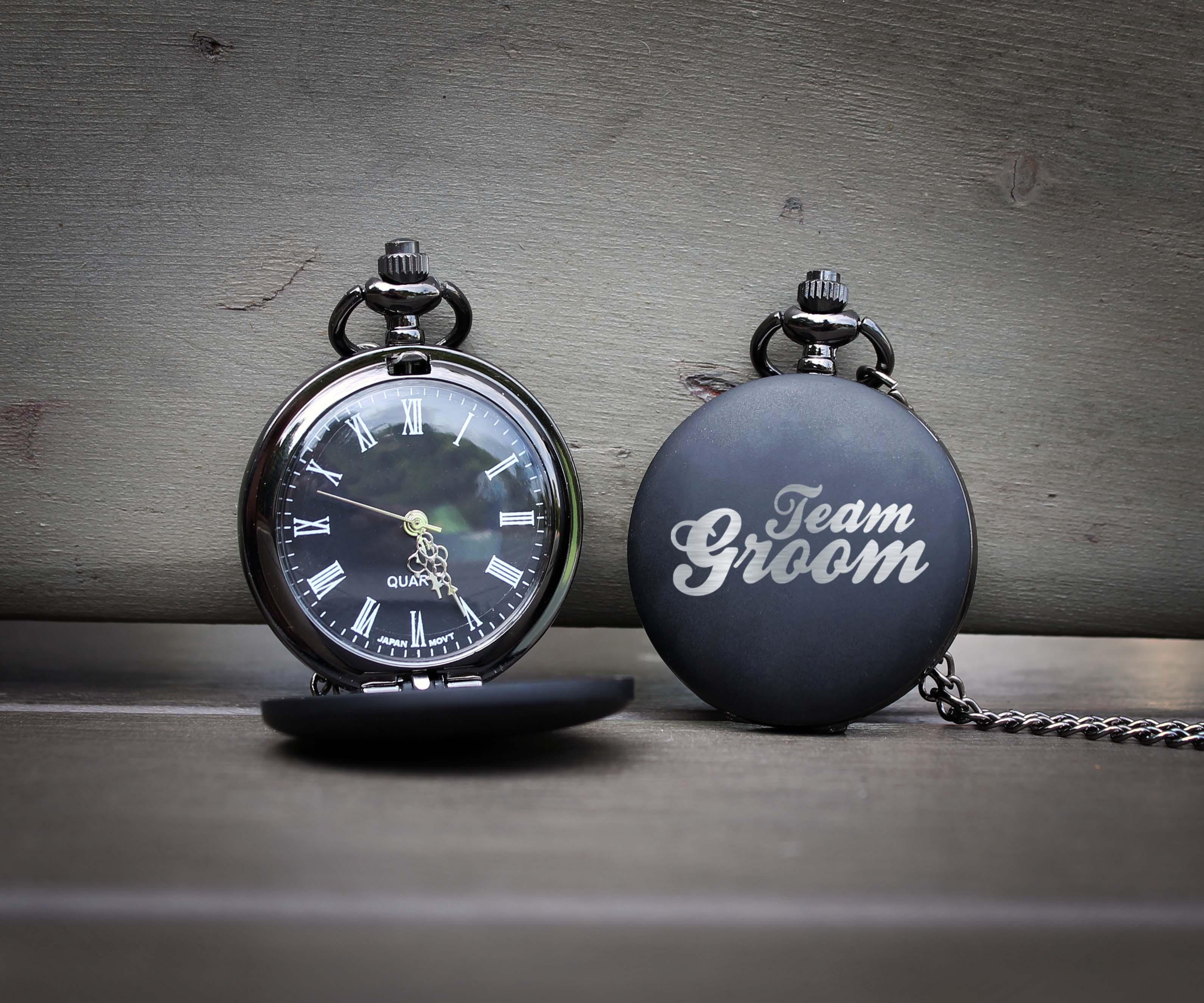 19b0408abf574 Customized Engraved Pocket Watch | Team Groom