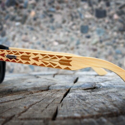 Personalized Black Bamboo Sunglasses | Arrows